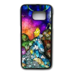 Alice In Wonderland Glass Phone Cover Case For Samsung Galaxy S7 Edge Cell Phone Black CGD204046 -- Awesome products selected by Anna Churchill