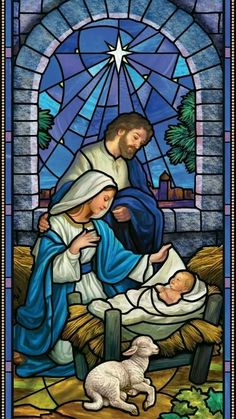 "The Nativity"" Stained Glass Window Christmas Scenes, Christmas Nativity, Christmas Images, Religious Pictures, Jesus Pictures, Stained Glass Church, Stained Glass Art, Catholic Art, Religious Art"