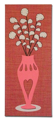 """Embroidered Artwork, Wall Hanging - """"Paisley Floral"""""""