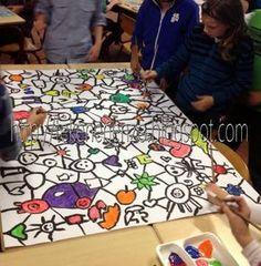 Kakelbonte klasse(n)kunst Leuke opdracht voor een hele groep