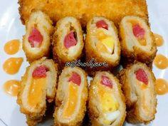 Risol Roti Tawar Sosis Mayonnaise recipe step 6 photo Roti Bread, Resep Cake, Malay Food, Mayonnaise Recipe, Indonesian Cuisine, Kids Menu, Ramadan Recipes, Recipe Steps, Breakfast Recipes