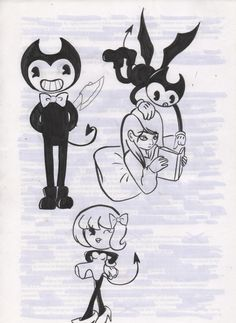 bendy and the ink machine dancing demon devil doodles art draw work