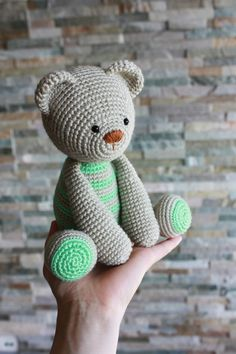 For a baby boy! (Pattern: Lucas the teddy )