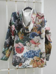 Linen Jacket Linen Jackets, Floral Tops, Women, Fashion, Moda, Top Flowers, Fashion Styles, Fashion Illustrations