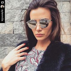 Aylen_Milla Mirrored Sunglasses, Sunglasses Women, Hollywood, Ideas Para, Goals, Outfit, Hair Styles, Fashion, Face Beauty
