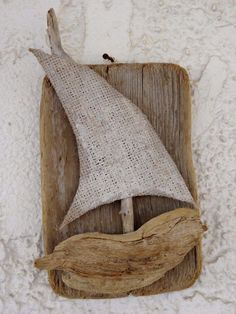 Natural Hanging Driftwood Sailboat Summer by SteliosArt on Etsy