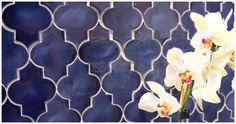 Mozaik Ceramic Tile: Mesh-Mounted Mamounia Tiles. For bedroom fireplace