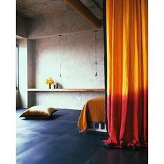 Orange Ombre Curtains