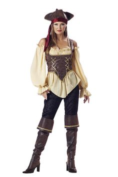 Our selections of Sexy Pirate costumes are sure to turn heads. We have Sexy Buccaneer costumes, Sexy Pirate costumes, Sexy Wench costumes and more. Buy your Sexy Pirate costume from the costume authority at Halloween Express. Pirate Wench Costume, Pirate Halloween Costumes, Female Pirate Costume, Halloween Fancy Dress, Halloween Kostüm, Adult Costumes, Costumes For Women, Women Halloween, Pirate Dress