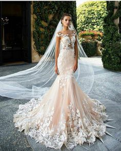 Wonderful Perfect Wedding Dress For The Bride Ideas. Ineffable Perfect Wedding Dress For The Bride Ideas. Backless Mermaid Wedding Dresses, Backless Wedding, Mermaid Dresses, Dream Wedding Dresses, Bridal Dresses, Wedding Gowns, Bridesmaid Dresses, Tulle Wedding, Lace Mermaid