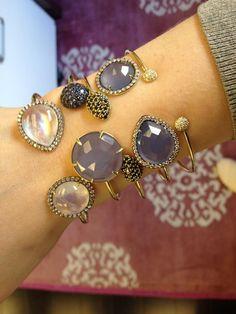 @Karen Jacot Jacot Dunick WYNNE -lovely lilac bangle stack