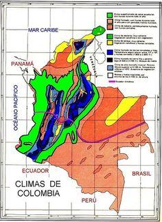 Mapa climático de Colombia – El pensante