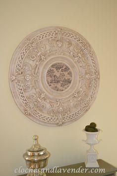 Ceiling Medallion Wall Art nice ceiling medallion diy glaze job! love it | painting