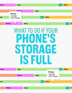 Take half an hour to delete and reorganize things on your phone so it stops telling you that your storage is almost full.