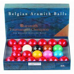 Billes de Billard Jeu Snooker Tournament Champion aramith 52,4mm - 178,20 €  #Jeux