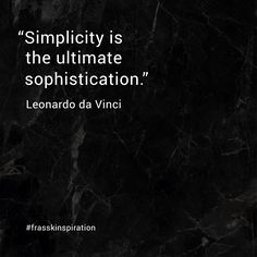Leonardo da Vinci on the art of keeping things simple.