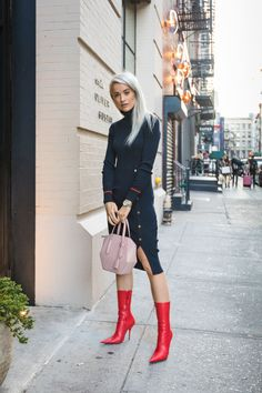 How To Style Red Accessories For Autumn - Inthefrow