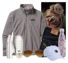 """'And if you like the way you look that much, than you should go and love yourself"""" by flroasburn ❤ liked on Polyvore featuring Patagonia, Hollister Co., S'well, Southern Proper, Converse, Kendra Scott and Ray-Ban"