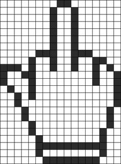 Middle Finger Perler Bead Pattern / Bead Sprite