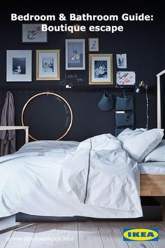 Cuddle up and relax with an extra soft and durable cotton percale duvet cover made from densely woven fine yarn. Click to find more ideas on how to achieve this bedroom style.