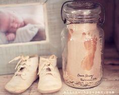 Baby Footprint Vignette