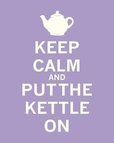 Art Print: Keep Calm, Lavender Tea Art Print by The Vintage Collection : 10x8in