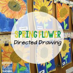 Bright Concepts 4 Teachers: Lesson Plans and Teaching Strategies: Directed Drawings: More Than Just Art Art Drawings For Kids, Drawing For Kids, Art For Kids, Projects For Kids, Art Projects, Directed Drawing, Kindergarten Art, Differentiated Kindergarten, Spring Art