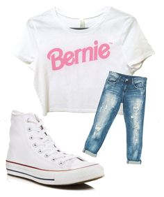 """""""Bernie my Man"""" by lohan-kbug on Polyvore featuring Sans Souci and Converse"""