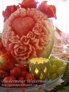 fruit and vegetable  flora arrangements | Fruit Carving Arrangements and Food Garnishes: August 2011