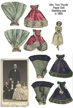 SOLD Sugg- Antique 1872 Mrs. Tom Thumb