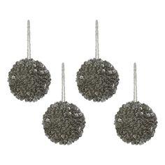 Boules argentée décoratives pour suspendre au sapin de noël Faits main en Inde Lot de 4 ShalinIndia http://www.amazon.fr/dp/B009FX66F6/ref=cm_sw_r_pi_dp_qtcCub0X22983