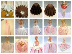 Step by step instructions on how to make Barbie cake