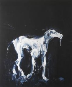 "Saatchi Art Artist Miroir Noir; Painting, ""Canis Lunae Series: Plasma Dog. SOLD"" #art"