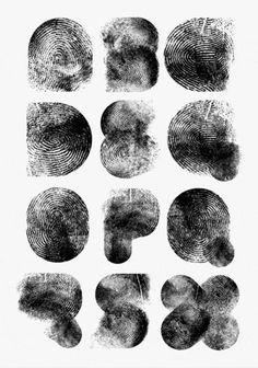 Fingertype Jonathan Looman {H} #huddletwitt #type #typography