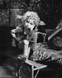 Shirley Temple imitating Marlene Dietrich's Hot Voodoo number from Blonde Venus.