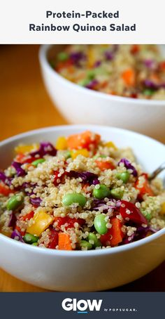 This rainbow quinoa salad will help you lose weight without going hungry, and you can even make your own sesame dressing