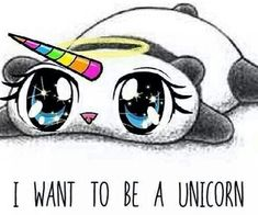 Inspiring image cute drawings panda rainbow sweet unicorn panda co Real Unicorn, Rainbow Unicorn, Unicorn Pics, Unicorn Pictures, Unicorn Art, Cute Unicorn, Funny Animals, Cute Animals, Unicorns And Mermaids