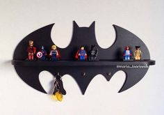 Handmade Wooden Batman Wall Shelf