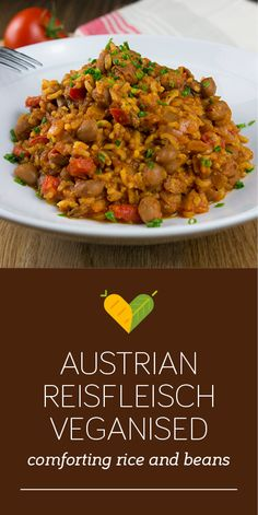 I veganised this traditional meaty Austrian dish, which used to be one of my favourites when I was a kid. Beans and seasoning give it the comforting taste it is known for.