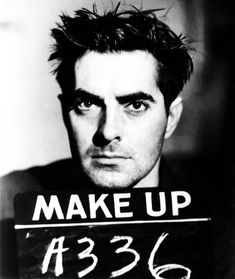 """Make-up test for Tyrone Power in """"Nightmare Alley (1947)"""