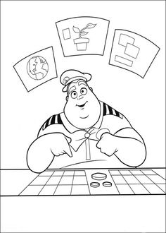 Wall-E Tegninger til Farvelægning. Printbare Farvelægning for børn. Tegninger til udskriv og farve nº 56