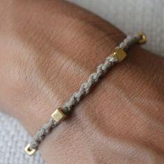 Colo 05 perles dorées cordon coton bracelet fait à la par cololinks