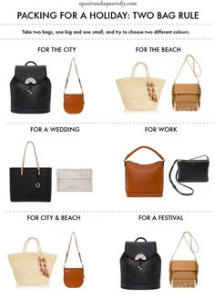 How to Pack: the two bag Rule