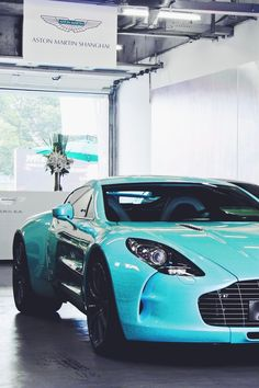 Not usually a fan of baby blue, but the One-77 looks good in any color