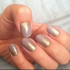 Nude brown & gold