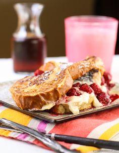 Mouthwatering Mascarpone and Raspberry Stuffed French Toast!