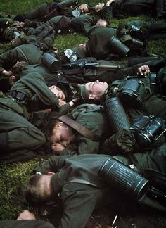 """kruegerrossi: """" German soldiers taking a """"nap time"""" between holland and belgium """"- pin by Paolo Marzioli"""