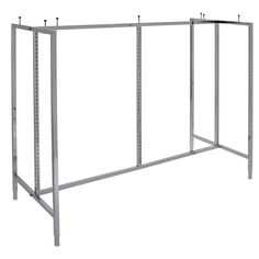 Display your merchandise confidently with this gondola merchandiser. The multipurpose design is ideal for hanging clothes or for displaying folded clothes on the Econoco extensions. Chrome finishing meshes with any retail environment. Features: Made of metal Appealing chrome finish Multipurpose merchandiser display Adjustable levelers 3-inch shelf supports Gondola-style design Model #K44 Weighs 45 lbs. Dimensions: 60.5 inches long x 24.5 inches wide x 48 - 63 inches tall Assembly Required… Diy Clothes Hacks, Clothing Hacks, Declutter Your Home, Organizing Your Home, Retail Clothing Racks, Portable Wardrobe, Hanging Clothes, Clothes Hanger, Linen Closet Organization
