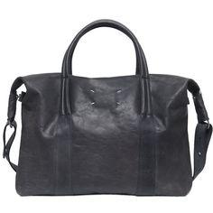 Fancy - Vintage Leather Weekender Bag by Maison Martin Margiela