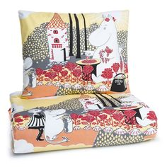 Rose Moomin yellow duvet cover 150 x 210 cm by Finlayson - The Official Moomin Shop  - 2